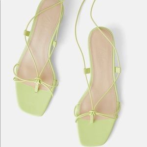 ISO Zara Green Strappy Lace Up Sandals!!!